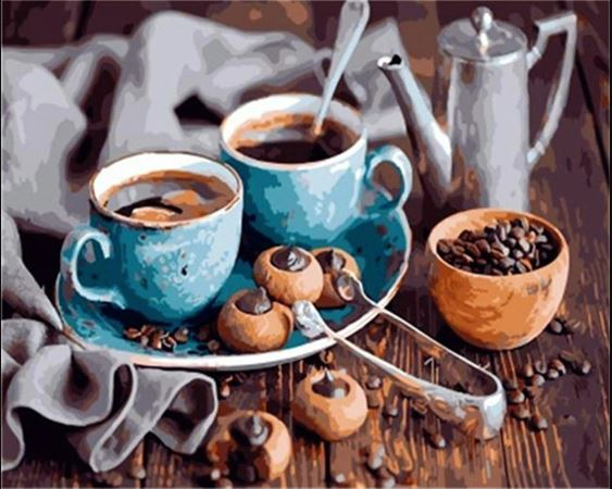 Two Cups of Coffee  - Paint by Numbers Kit