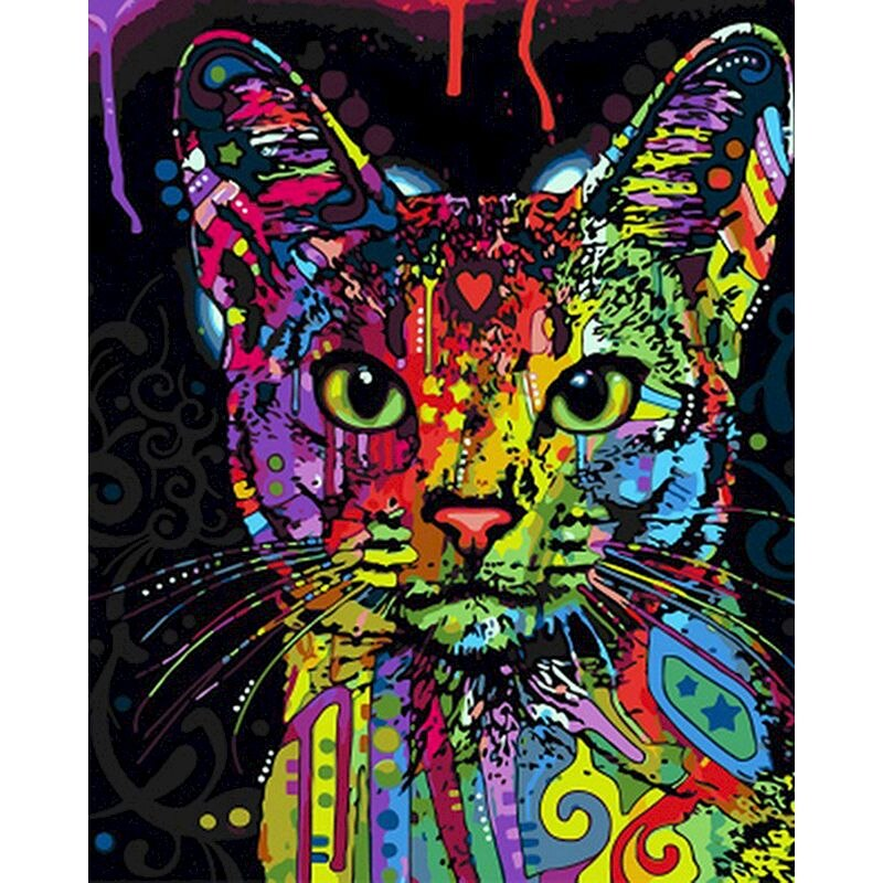 Colorful Cat Painting Kit