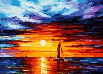 Colorful Sea Landscape - Paint by Numbers