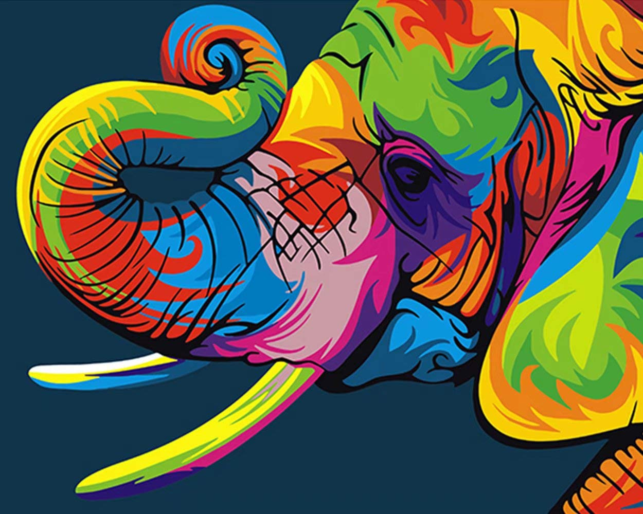 Colourful Animated Elephant painting