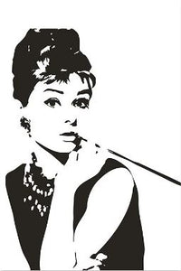Cartoon Hepburn Star Famous Handwork - Paint by Numbers