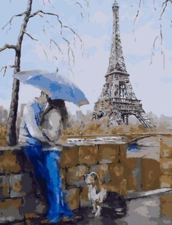 Couple Making love At Eiffel Tower - Paint by Numbers