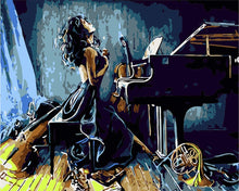 Load image into Gallery viewer, Piano Girl Painting Kit