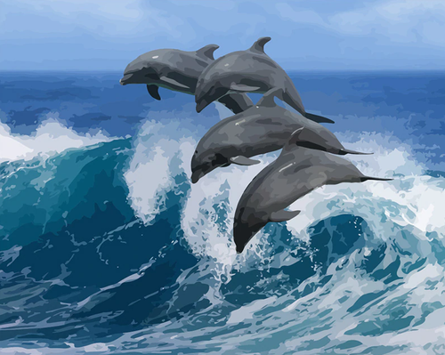 Dolphins In the Ocean Kit