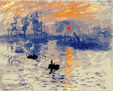Sun Rise Famous Painting - Paint by Numbers