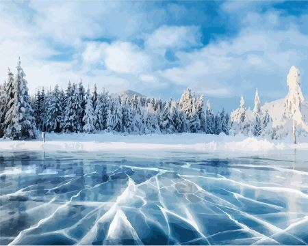 Ice Covered everything - Paint by Numbers Kit