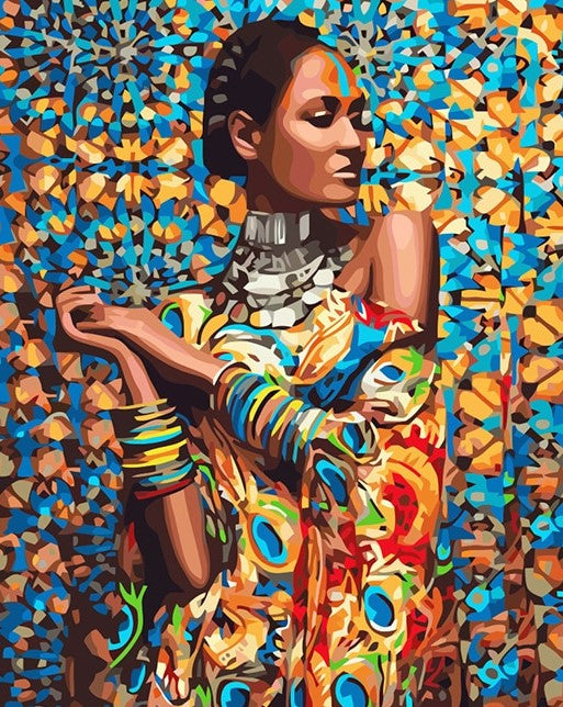 African Woman DIY paint by numbers