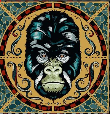 Ancient Gorilla Face Portrait - Paint by Numbers