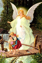 Load image into Gallery viewer, Guardian Angel With Children paint by number