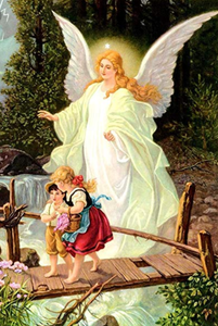 Guardian Angel With Children paint by number