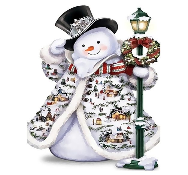 Happy Snowman paint by numbers