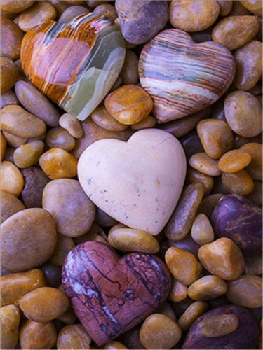 Heart Stones Painting by number Kit