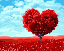 Load image into Gallery viewer, Heart Of The Tree Paint By Numbers Kit
