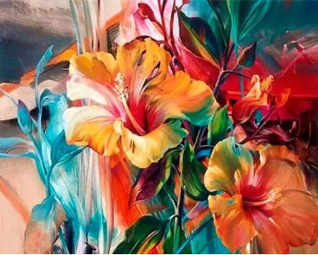 Beautiful Flowers - Painting Kit