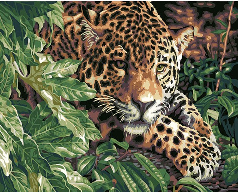 leopard In Jungle painting