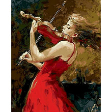Load image into Gallery viewer, Lady In Red With Violin
