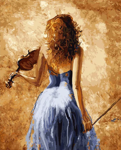 Lady with Violin Kit