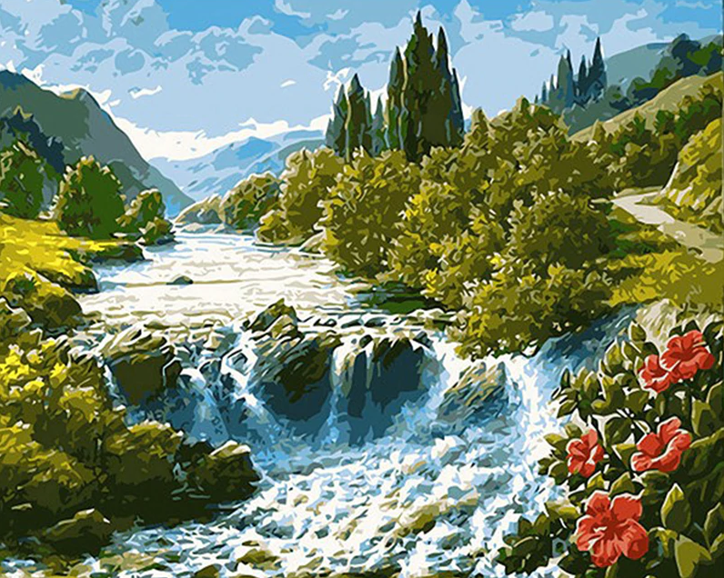 Lake And Mountains Painting Kit
