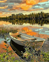 Load image into Gallery viewer, Lake Side Boat - Painting Kit
