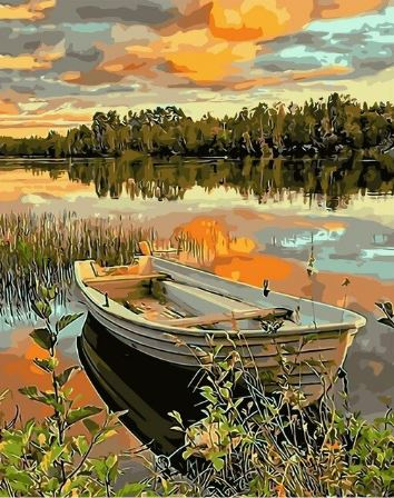 Lake Side Boat - Painting Kit