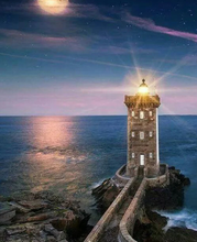 Load image into Gallery viewer, Light House At Night