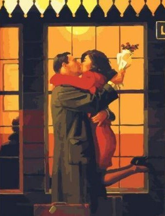 Couple Kissing - Paint by Numbers