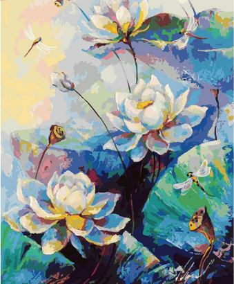 Nice Lotus Flowers - Painting Kit