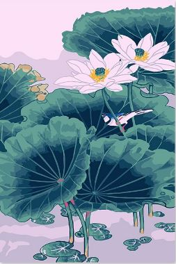 Lotus Pond - Painting Kit