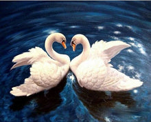 Load image into Gallery viewer, Loving Swans DIY painting kit