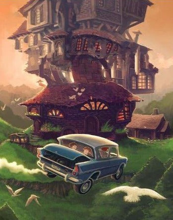Magic House and Flying Car - Painting Kit