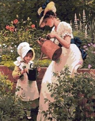 Gardening Family - Paint by Numbers
