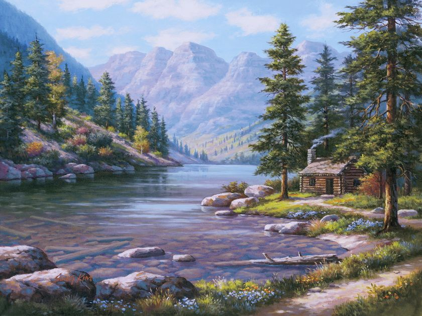 Mountains Stream Painting Kit