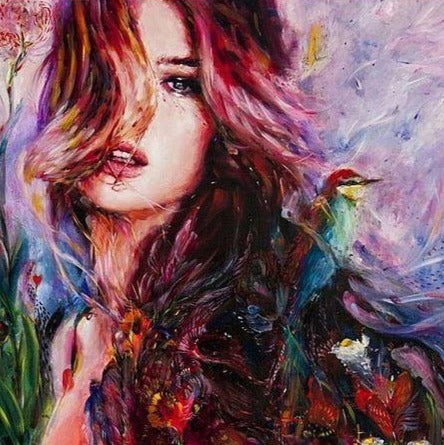 Stunning painting of a Beautiful Women - Painting Kit