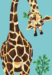 Naughty Giraffe painting