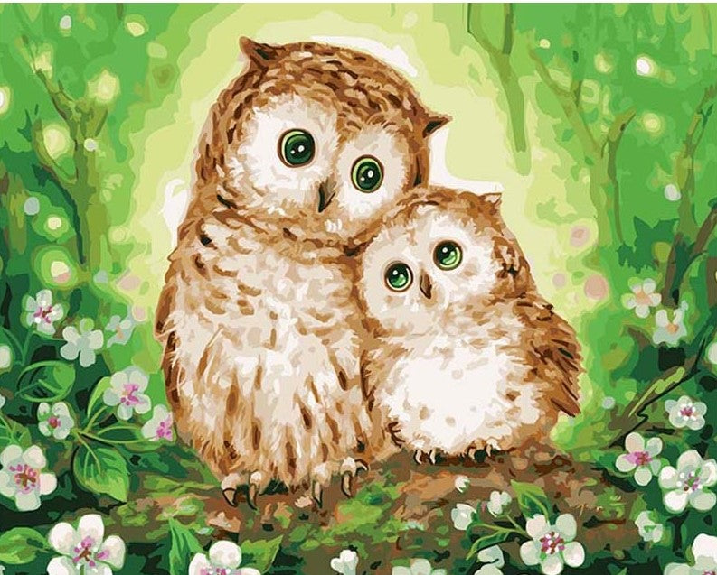 Two Owls painting