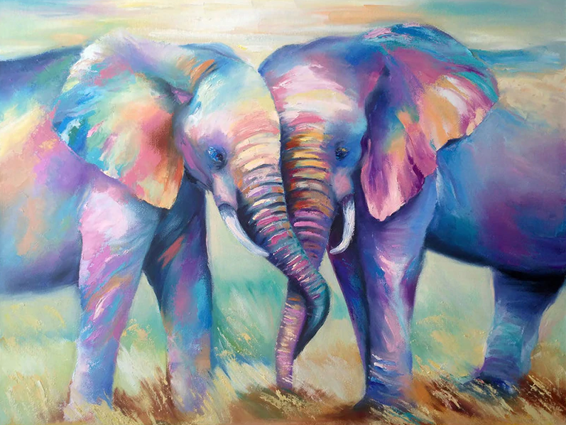 Pair Of Colorful Elephant Kit