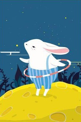 Cute Rabbit Hula Hoop - Paint by Numbers