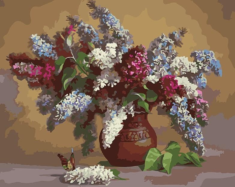 Colorful Flowers In Port painting kit
