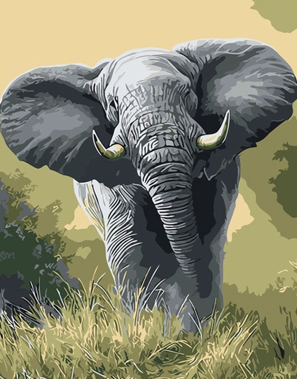 Elephant painting kit