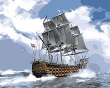 Load image into Gallery viewer, Ship At Sea Painting Kit