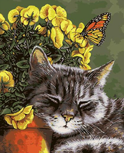 Load image into Gallery viewer, Cat And Butterfly kit