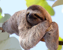 Load image into Gallery viewer, Sloth On Branch painting