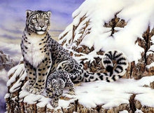 Load image into Gallery viewer, Snow Leopard with Cub painting