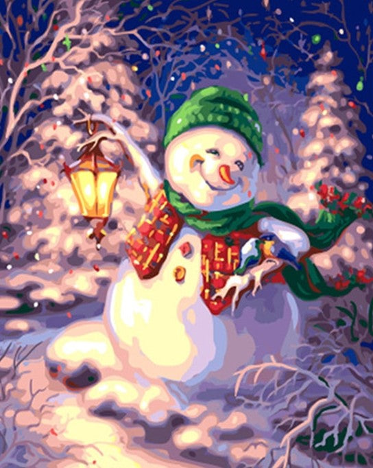 Happy Snowman painting