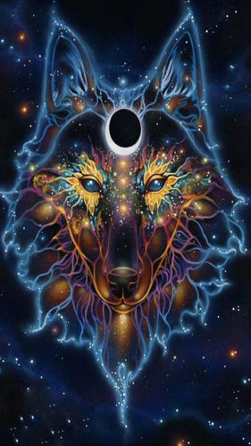 Spiritual Wolf Paint By Number
