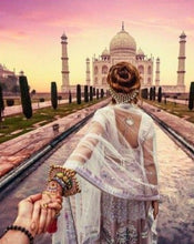 Load image into Gallery viewer, Taj Mahal Couple - Painting Kit