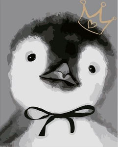 Cute Penguin Painting - Paint by Numbers