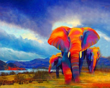 Load image into Gallery viewer, Elephants In Jungle DIY kit