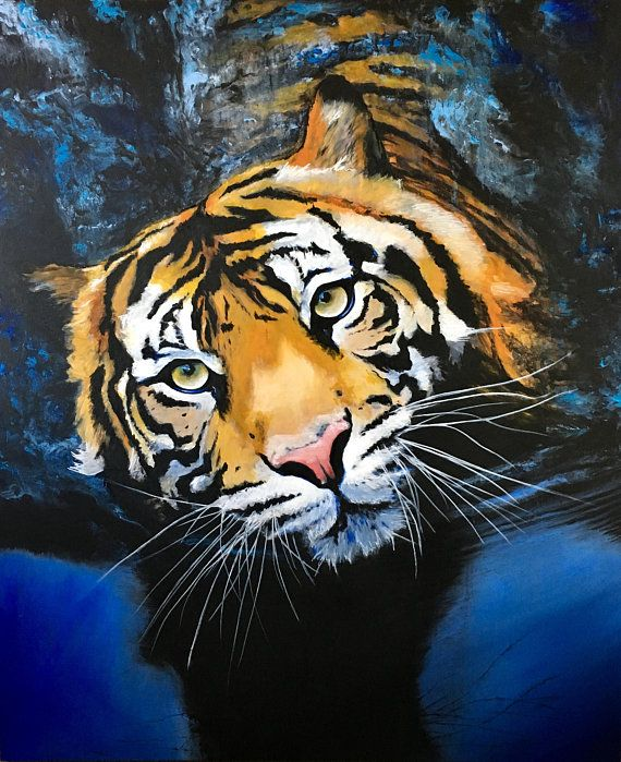 Tiger In Water Paint By Numbers