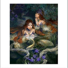 Load image into Gallery viewer, Two Beautiful Mermaids Painting Kit